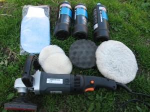 Необходимый инструмент и материалы для механической полировки