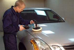 Помещение для полировки автомобиля