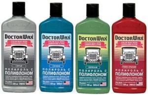 DoctorWax - цветная полироль с полифлоном для цветной полировки кузова автомобиля