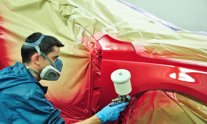 Точечная покраска кузова автомобиля
