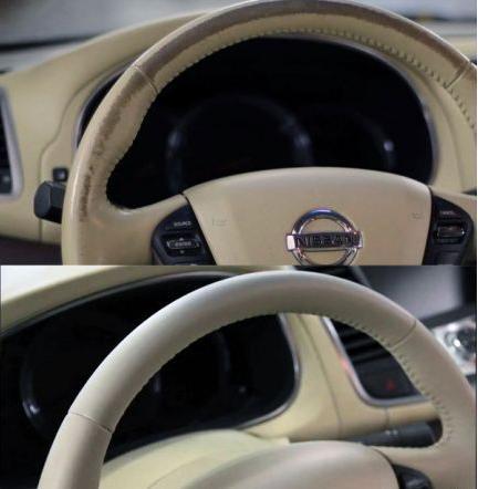 Как покрасить кожаный руль автомобиля своими руками