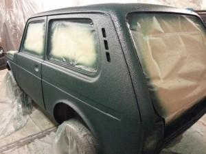 Покраска авто Нива раптором своими руками