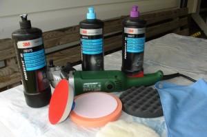 материалы и инструмент для полировки бампера от царапин