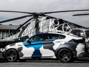 Покраска автомобиля в графический камуфляж