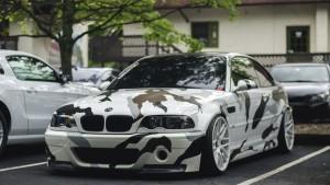 Покраска автомобиля в зимний камуфляж