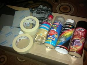 Материалы для покраски отражателей и масок фар