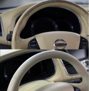 Краска для кожаного руля автомобиля