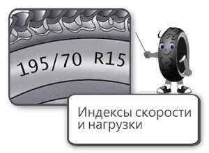 Расшифровка индекса скорости и нагрузки шин